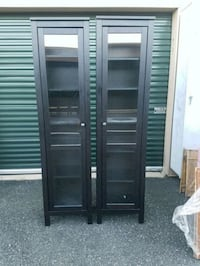2 MATCHING BOOKCASES WITH DOORS