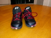 pair of black-and-red Nike basketball shoes 763 mi