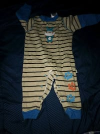 baby's white and blue stripe footie pajama Gaithersburg, 20878