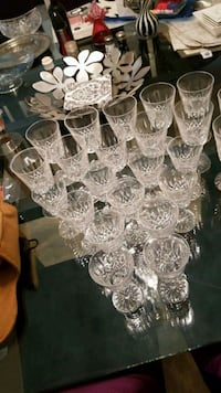 Waterford lismore wine and water glasses 657 mi