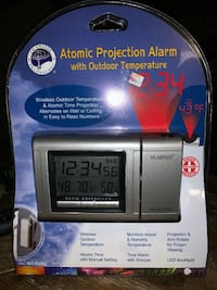 Atomic Projection Alarm With Outdoor Temperature La Cross Technology WT-512OU-BP Rockville