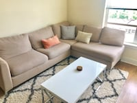Beige sectional couch sofa Alexandria, 22304