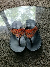 pair of gray-and-red sandals Frederick, 21703