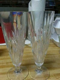 Crystal his and hers wine glasses High Point, 27262