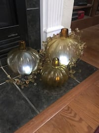 Glass pumpkins with garland Knoxville, 37922
