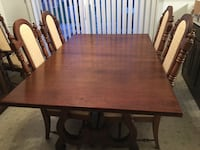 """Dinning room table, chairs and china cabinet. Good used condition. 2arm chairs 4 regular chairs. Have 12"""" leaf and table pads. Fairfax, 22033"""