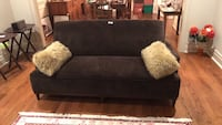 Upcountry Brown Velvet Sofa  Toronto, M3B 3E6