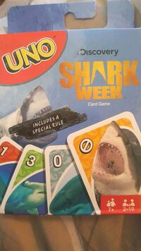 New Shark Week Shark UNO card game Scranton, 18504