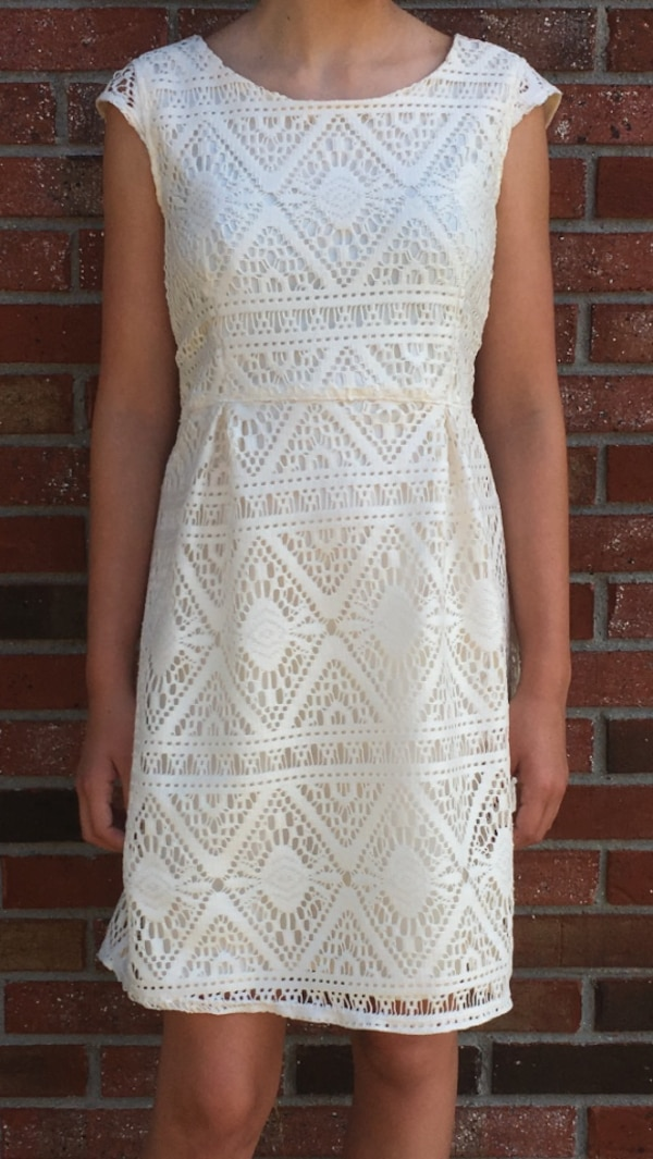 Kids White Lace Tank Dress