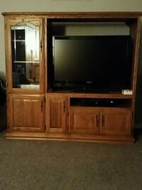 Solid oak TV hutch (without TV)