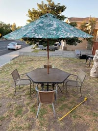 Cheap Complete Patio Set w/ 4 Chairs and Umbrella