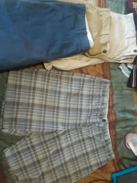 Navy blue, Tan, White and plaid.  Newport, 55055