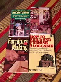 Four woodworking softcover books  Toronto, M2M 4G6