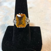 Citrine gemstone set in sterling silver Hyattsville, 20783