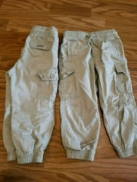 two gray and white pants Langley, V3A