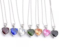 7 Heart Necklaces assorted colors avail LIQUIDATION !!!   Kirkland