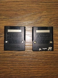 GameCube official memory cards