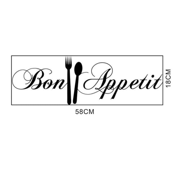 Brand New - Bon Appetit with Fork and Spoon Wall Decal