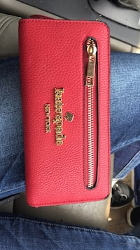 Red leather kate spade wallet Charlotte, 28216