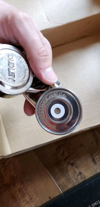 Steel and Red Master Lock Vaughan, L4H 2R4