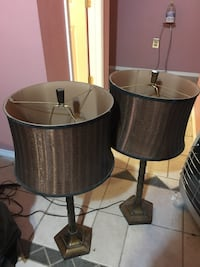 two black-and-white table lamps San Antonio, 78264
