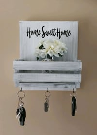 Wooden Rustic mail and key holder Brampton, L6Y 1B9