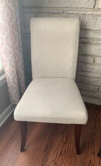 8 Dine chairs set - 6 cream/beige and 2 brown - NEGOTIABLE