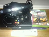 black Xbox 360 console with controllers Edmonton, T5L 2A9