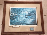 Ken Zylla Signed Commemorative Print NARY A CARE Framed and Matted Kitchener, N2M 1L5
