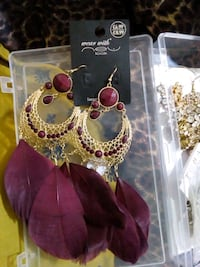 red and gold-colored earrings Birmingham, B12 8LX