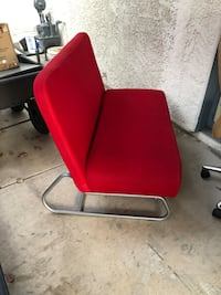 Red and chrome loveseat Las Vegas, 89120