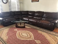 Dark brown sectional recliner sofa set with coffee table and 2 side tables Centreville, 20120