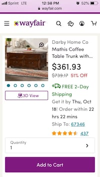 Lift Top Coffee Table Beaumont, 77706