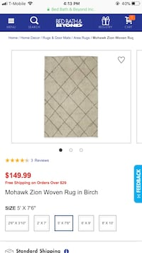 White shag rug bed bath and beyond Bloomfield, 07003