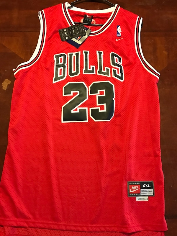 big sale 5da11 2b026 Used red black and white nba chicago bulls michael jordan ...