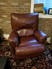 brown leather recliner sofa chair Denver, 80211