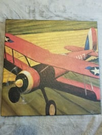 Red Airplane wall hanging painting/picture decor Alexandria, 22307
