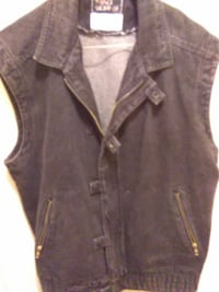 black denim vest 43 km
