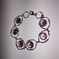 Silver and purple bracelet - Magnolia Jewellers Burlington, L7R 3R6