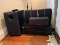Yamaha 5.1 Surround Sound received and speaker package Alexandria, 22304