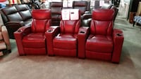 Top grain leather power reclining Theater seating Mississauga, L4X 1R1