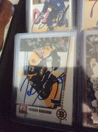 Boston Bergeron, P Autographed Cards Mississauga