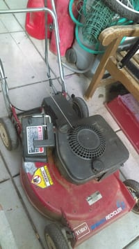 red and black Troy-Bilt push mower Denver, 80204