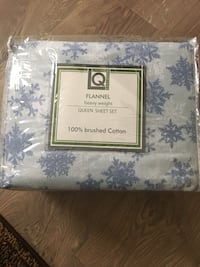 Flannel cotton sheets Queen  Capitol Heights, 20743