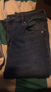 Used blue denim straight-cut jeans for sale in Kings Park - letgo 54a164772dbd5