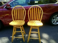 two brown wooden windsor chairs Bangor, 18013
