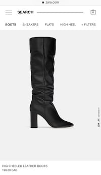 Brand new Zara leather boots  Markham