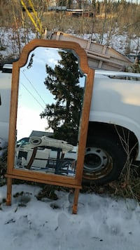 brown wooden classical mirror frame