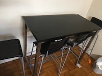 Dinning table with 4 high chairs