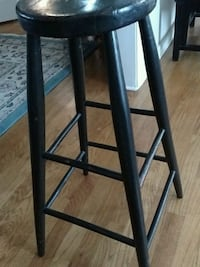 Antique black wooden stool or plant stand Pittsford, 14534